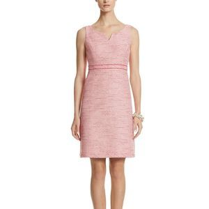 White House Black Market Pink Tweed Dress Sz 6